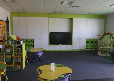 Classroom Refurbishment by BrookhouseUK. Triumph Board in picture