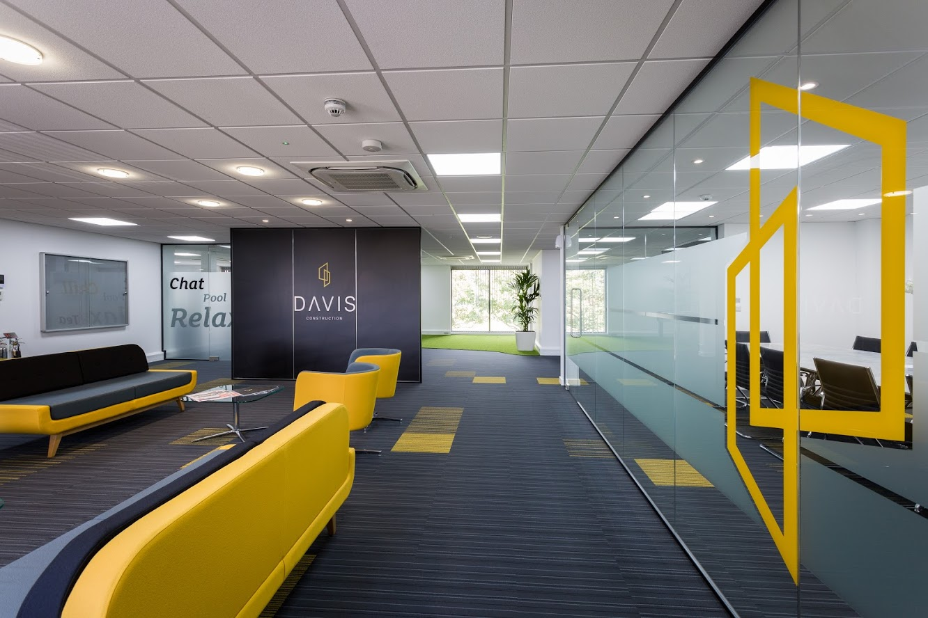 Davis Construction new office after office refurbishment