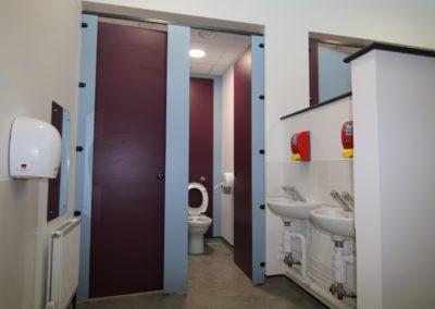 washroom refurbishment with hand dryers