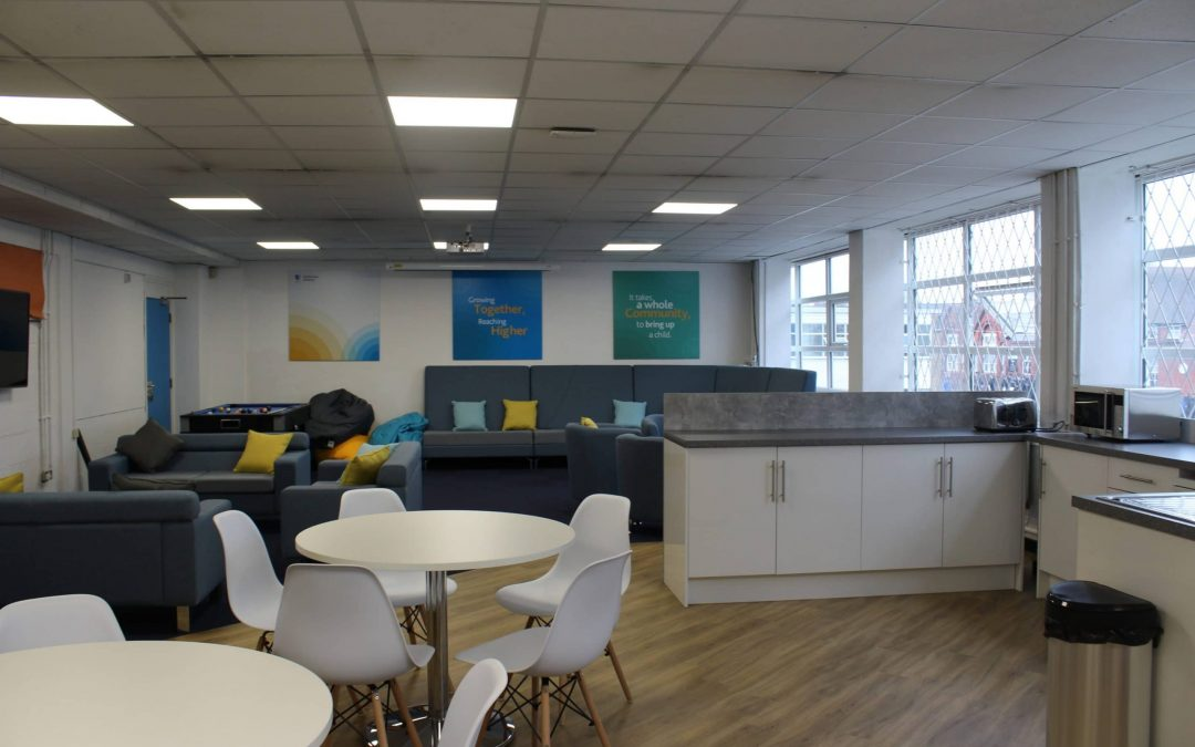 Colourful and creative staffroom refurbishment project