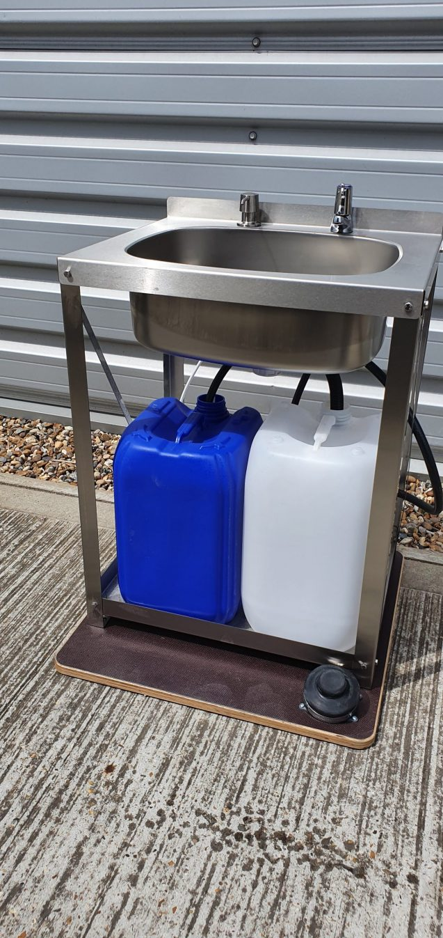 BrookhouseUK Education Furniture - Hand Wash Unit, Stainless Steel