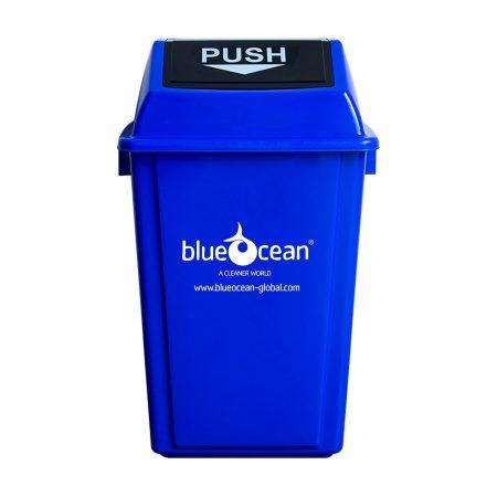 BrookhouseUK - BlueOcean Fliptop Bin 60 Litre Blue