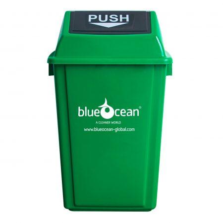 BrookhouseUK - BlueOcean Fliptop Bin 60 Litre Green