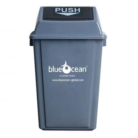 BrookhouseUK - BlueOcean Fliptop Bin 60 Litre Grey