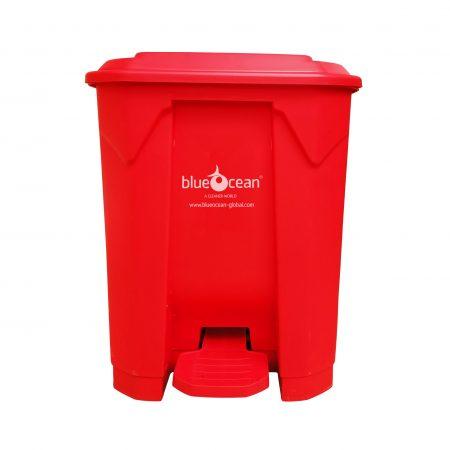 BrookhouseUK - BlueOcean Pedal Bin 60 Litre Red