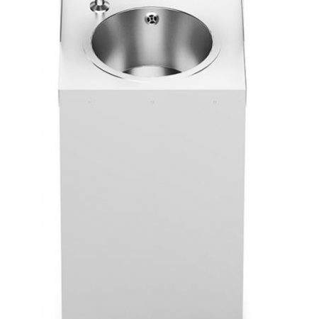 BrookhouseUK Education Mobile Hand Wash Station with Splashback, Soap & Paper Towel Holder