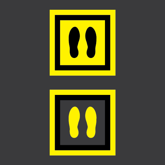 BrookhouseUK Education Furniture - Social-Distance-feet-markers