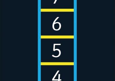 BrookhouseUK Education Furniture - outdoor floor marking - 1-10 Ladder