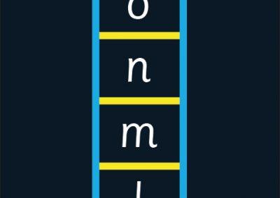 BrookhouseUK Education Furniture - outdoor floor marking - Alphabet Ladder