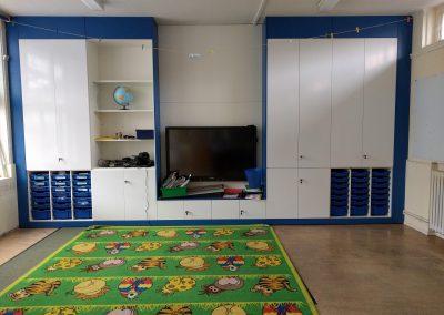 BrookhouseUK Education Furniture - Teacher Storage wall - Launcelot Primary School