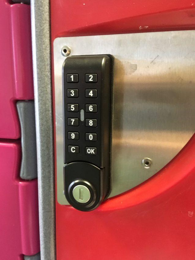 BrookhouseUK Educational Furniture - Washable locker keypad