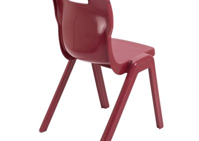 BrookhouseUK Education Furniture - Titan Chair - Burgundy, Side On