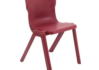 BrookhouseUK Education Furniture - Titan Chair - Burgundy Front Angle
