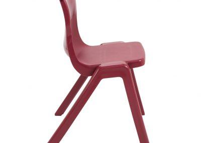BrookhouseUK Education Furniture - Titan Chair - Burgundy, Side