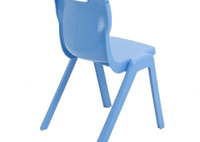 BrookhouseUK Education Furniture - Titan Chair - Sky Blue Side On