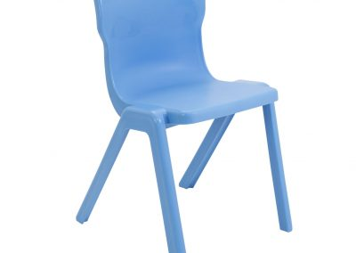 BrookhouseUK Education Furniture - Titan Chair - Sky Blue Front Angle
