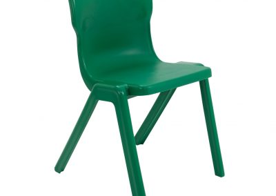 BrookhouseUK Education Furniture - Titan Chair - Green Front Angle