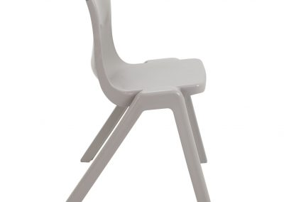 BrookhouseUK Education Furniture - Titan Chair - Grey, Side