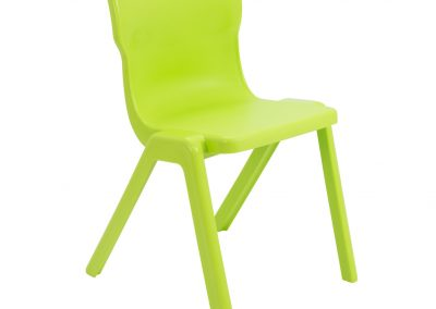 BrookhouseUK Education Furniture - Titan Chair - Lime Front Angle
