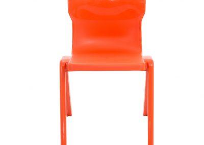 BrookhouseUK Education Furniture - Titan Chair - Orange FrontOrange Front