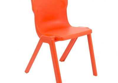 BrookhouseUK Education Furniture - Titan Chair - Orange Front Angle
