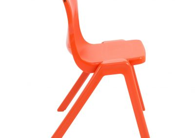 BrookhouseUK Education Furniture - Titan Chair - Orange Side