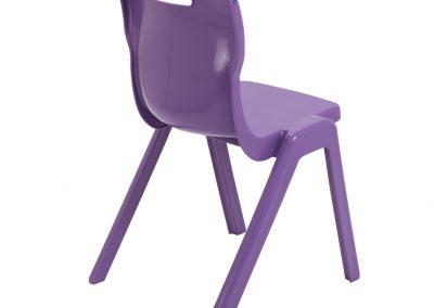 BrookhouseUK Education Furniture - Titan Chair - Purple Side On