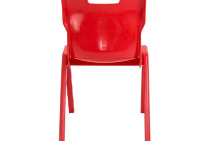 BrookhouseUK Education Furniture - Titan Chair - Red, Back