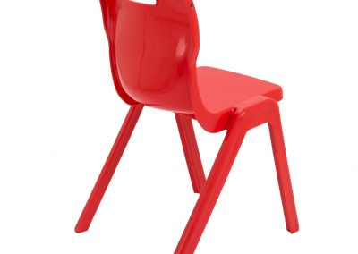 BrookhouseUK Education Furniture - Titan Chair - Red, Side On