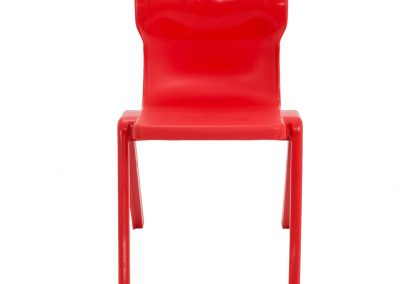 BrookhouseUK Education Furniture - Titan Chair - Red, Front