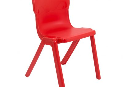 BrookhouseUK Education Furniture - Titan Chair - Red, Front Angle