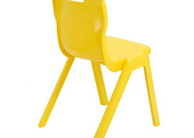 BrookhouseUK Education Furniture - Titan Chair - Yellow, Side On