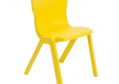 BrookhouseUK Education Furniture - Titan Chair - Yellow, Front Angle