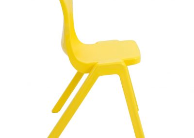 BrookhouseUK Education Furniture - Titan Chair - Yellow, Side